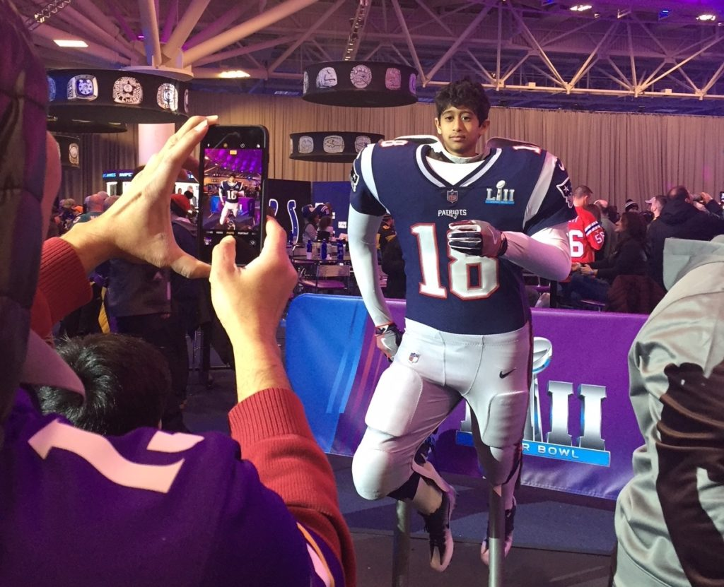 Kid Enjoys Immersive Experience at Super Bowl LII