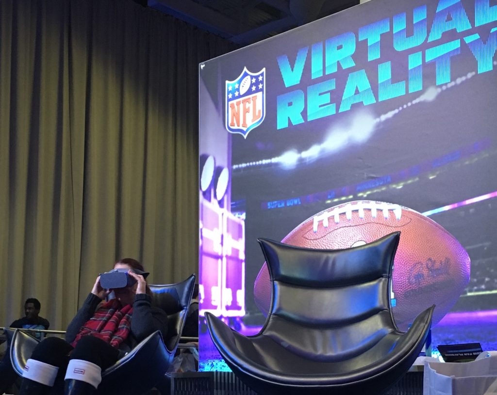 Virtual Reality at Super Bowl LII